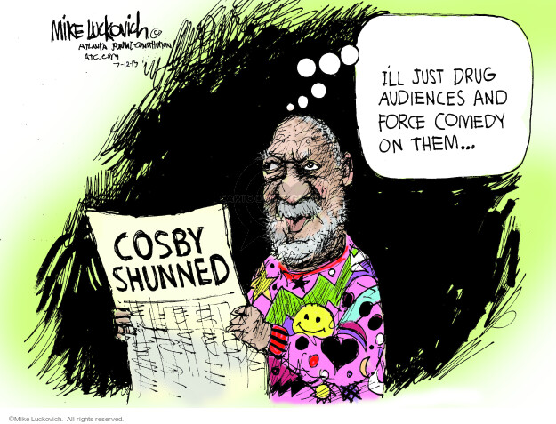 Cartoonist Mike Luckovich  Mike Luckovich's Editorial Cartoons 2015-07-12 drug