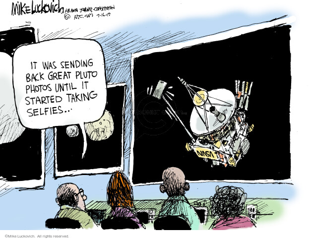 Cartoonist Mike Luckovich  Mike Luckovich's Editorial Cartoons 2015-07-16 discovery