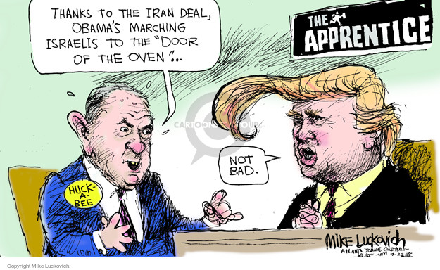 Mike Luckovich  Mike Luckovich's Editorial Cartoons 2015-07-28 Israel