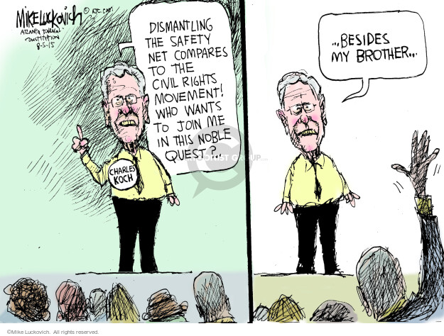 Mike Luckovich  Mike Luckovich's Editorial Cartoons 2015-08-05 conservatism