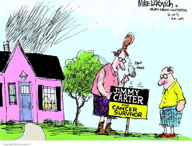 Mike Luckovich  Mike Luckovich's Editorial Cartoons 2015-08-13 cancer