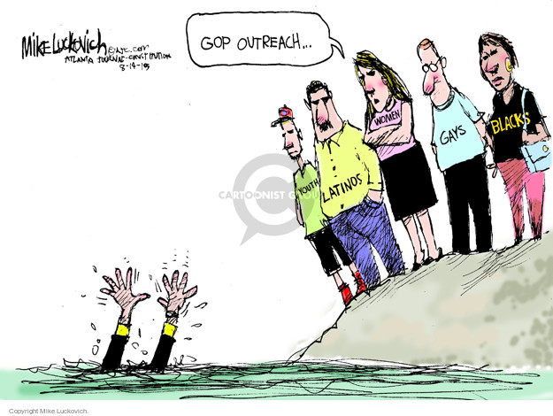 Mike Luckovich  Mike Luckovich's Editorial Cartoons 2015-08-14 women candidates