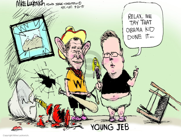 Cartoonist Mike Luckovich  Mike Luckovich's Editorial Cartoons 2015-08-20 Iraq