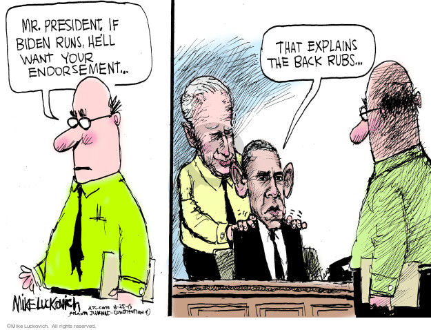 Mike Luckovich  Mike Luckovich's Editorial Cartoons 2015-08-25 Obama Biden