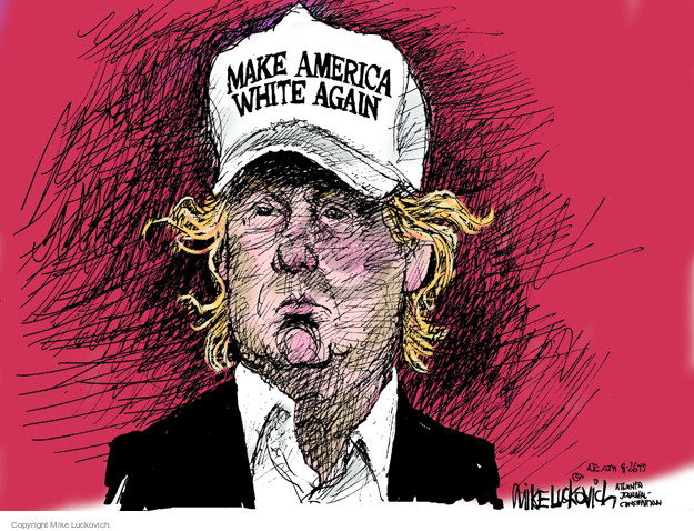 Cartoonist Mike Luckovich  Mike Luckovich's Editorial Cartoons 2015-08-26 ethnicity