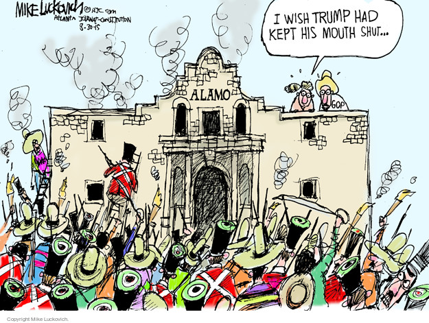 Cartoonist Mike Luckovich  Mike Luckovich's Editorial Cartoons 2015-08-30 election