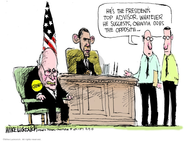 Cartoonist Mike Luckovich  Mike Luckovich's Editorial Cartoons 2015-09-09 Bush administration