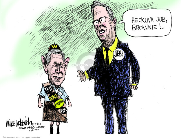 Cartoonist Mike Luckovich  Mike Luckovich's Editorial Cartoons 2015-09-20 Iraq