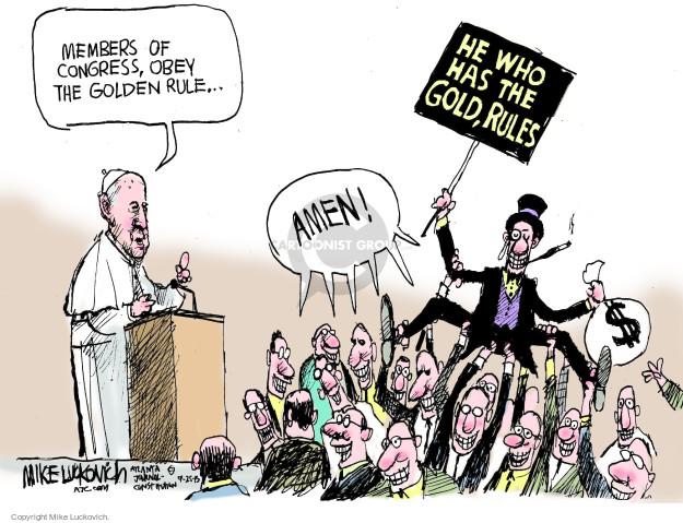 Mike Luckovich  Mike Luckovich's Editorial Cartoons 2015-09-25 congressman