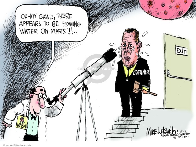 Mike Luckovich  Mike Luckovich's Editorial Cartoons 2015-09-29 congressional leadership