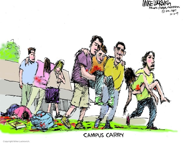 Cartoonist Mike Luckovich  Mike Luckovich's Editorial Cartoons 2015-10-02 weaponry