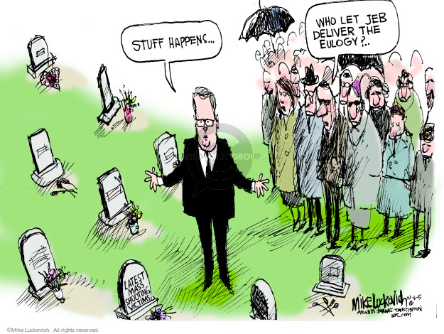 Cartoonist Mike Luckovich  Mike Luckovich's Editorial Cartoons 2015-10-06 election