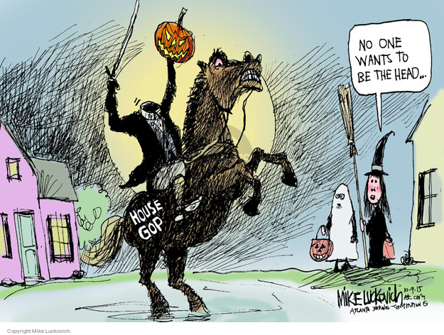 Mike Luckovich  Mike Luckovich's Editorial Cartoons 2015-10-09 Halloween