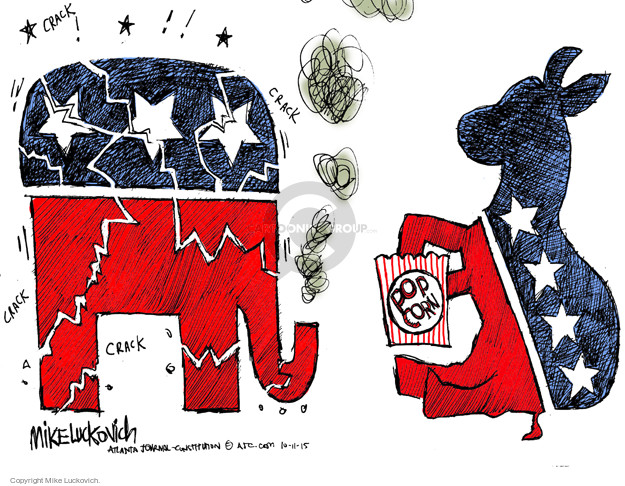 Mike Luckovich  Mike Luckovich's Editorial Cartoons 2015-10-11 republican politician