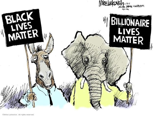 Mike Luckovich  Mike Luckovich's Editorial Cartoons 2015-10-16 Black Lives Matter