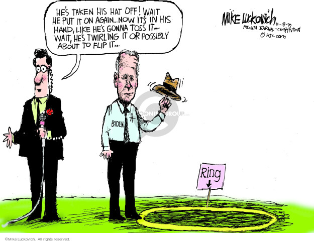 Mike Luckovich  Mike Luckovich's Editorial Cartoons 2015-10-18 Joe Biden