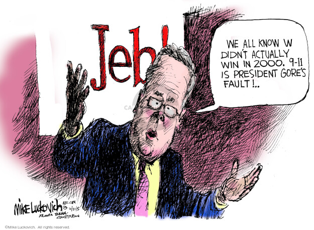 Cartoonist Mike Luckovich  Mike Luckovich's Editorial Cartoons 2015-10-21 blame