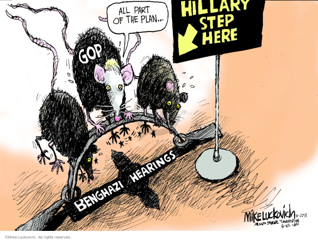 All part of the plan … Hillary step here. GOP. Benghazi hearings.