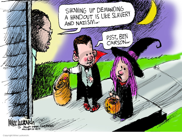 Mike Luckovich  Mike Luckovich's Editorial Cartoons 2015-10-28 Halloween
