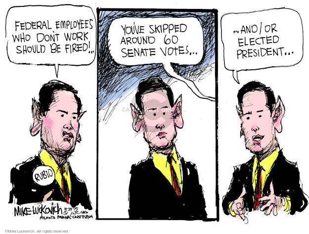 Mike Luckovich  Mike Luckovich's Editorial Cartoons 2015-10-29 republican politician