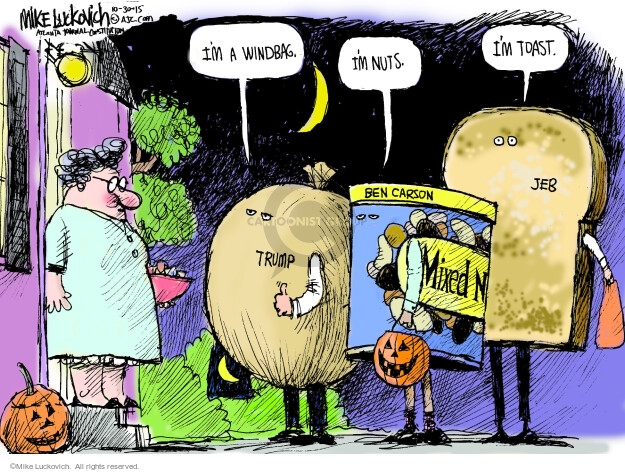 Mike Luckovich  Mike Luckovich's Editorial Cartoons 2015-10-30 Halloween