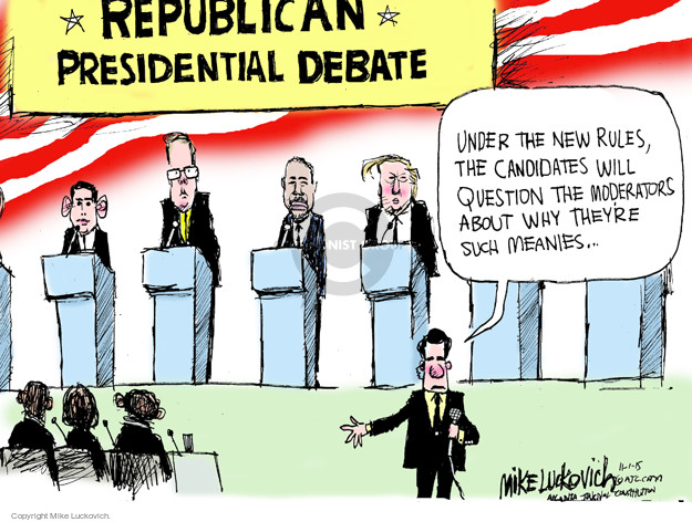 Mike Luckovich  Mike Luckovich's Editorial Cartoons 2015-11-01 republican politician