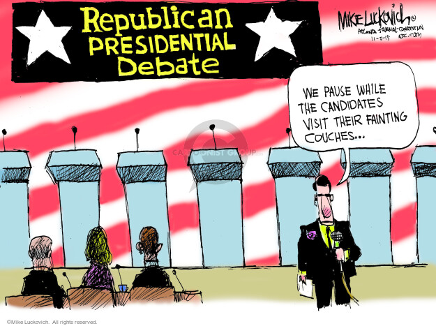 Mike Luckovich  Mike Luckovich's Editorial Cartoons 2015-11-05 republican politician