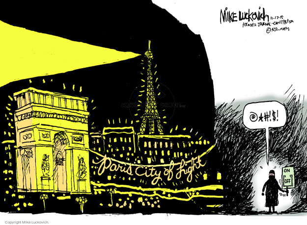 Cartoonist Mike Luckovich  Mike Luckovich's Editorial Cartoons 2015-11-17 light