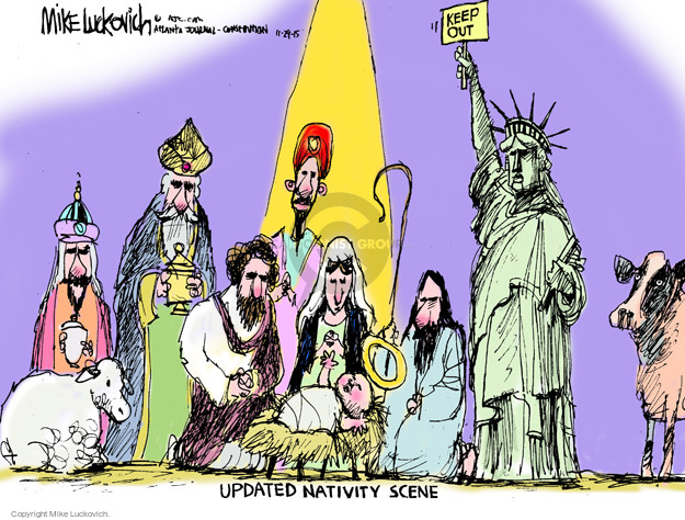 Cartoonist Mike Luckovich  Mike Luckovich's Editorial Cartoons 2015-11-29 baby