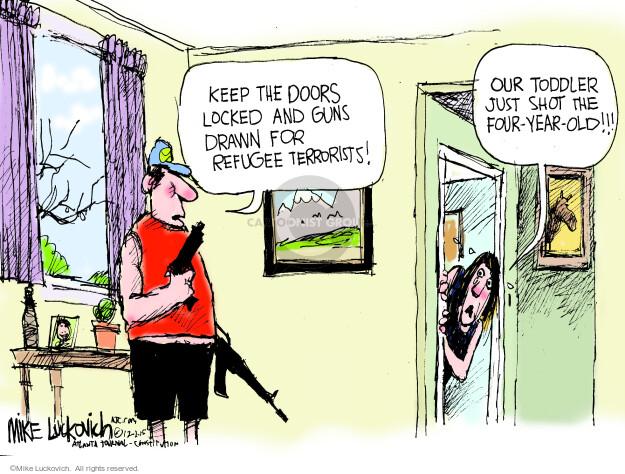Cartoonist Mike Luckovich  Mike Luckovich's Editorial Cartoons 2015-12-02 victim