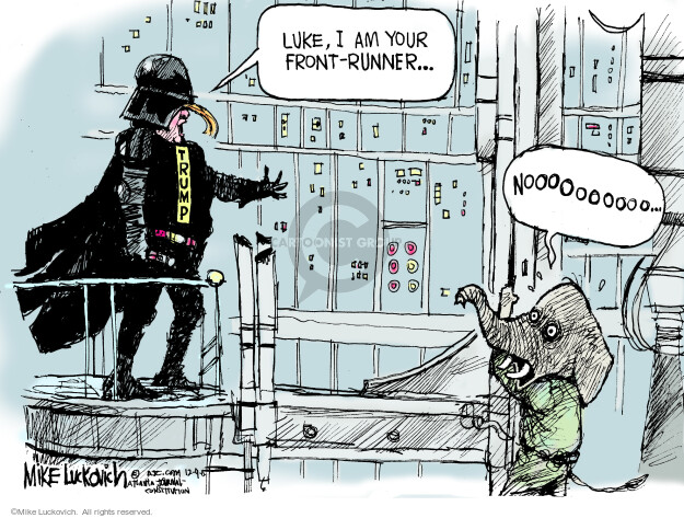 Mike Luckovich  Mike Luckovich's Editorial Cartoons 2015-12-09 Darth Vader