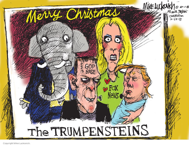 Mike Luckovich  Mike Luckovich's Editorial Cartoons 2015-12-22 presidential election