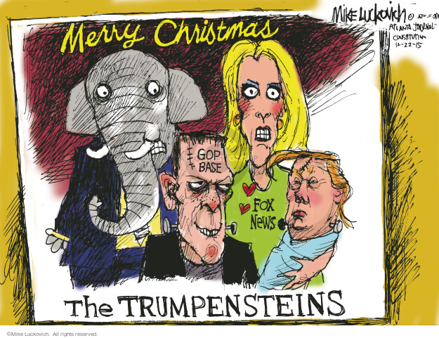 Cartoonist Mike Luckovich  Mike Luckovich's Editorial Cartoons 2015-12-22 election