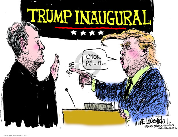 Cartoonist Mike Luckovich  Mike Luckovich's Editorial Cartoons 2015-12-23 election