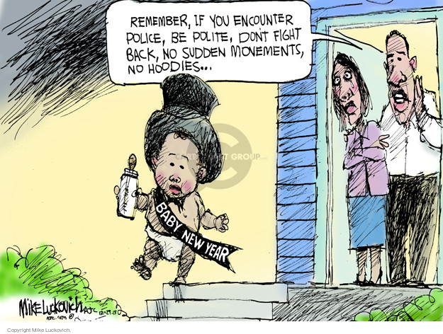 Mike Luckovich  Mike Luckovich's Editorial Cartoons 2015-12-29 racism