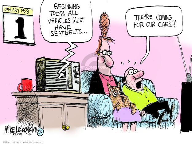 Cartoonist Mike Luckovich  Mike Luckovich's Editorial Cartoons 2016-01-07 gun rights