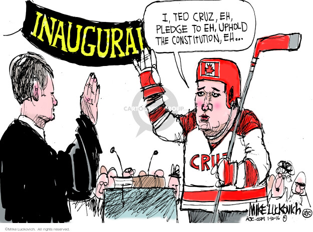 Cartoonist Mike Luckovich  Mike Luckovich's Editorial Cartoons 2016-01-10 Constitution