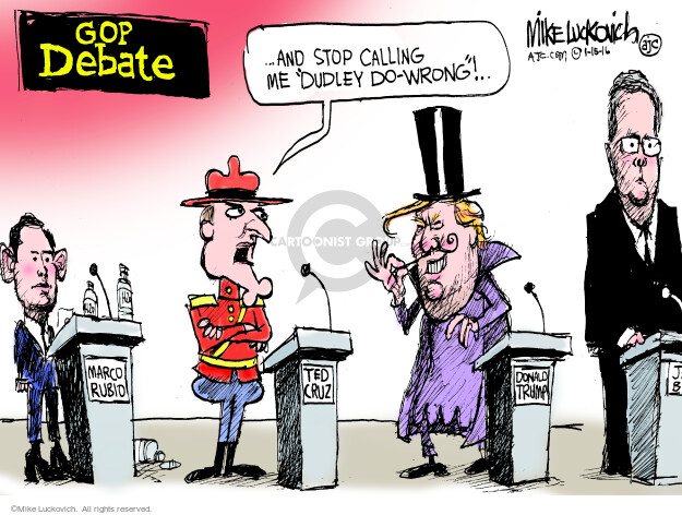 Cartoonist Mike Luckovich  Mike Luckovich's Editorial Cartoons 2016-01-15 election