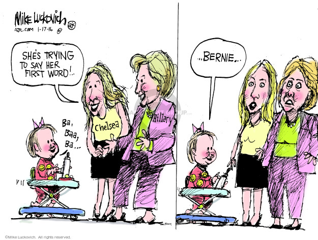 Cartoonist Mike Luckovich  Mike Luckovich's Editorial Cartoons 2016-01-17 election