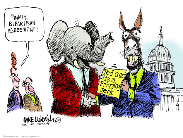 Mike Luckovich  Mike Luckovich's Editorial Cartoons 2016-01-26 partisan