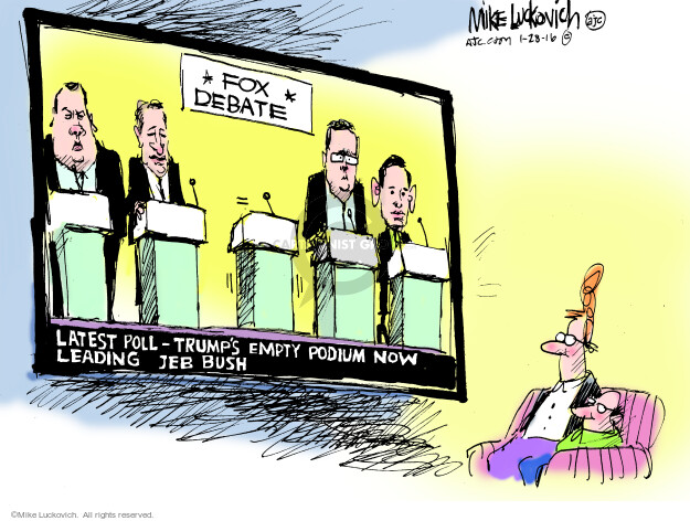 Cartoonist Mike Luckovich  Mike Luckovich's Editorial Cartoons 2016-01-28 former governor