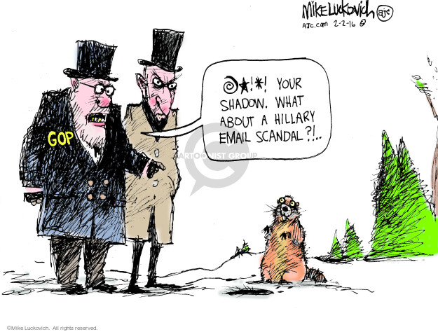 Cartoonist Mike Luckovich  Mike Luckovich's Editorial Cartoons 2016-02-02 election