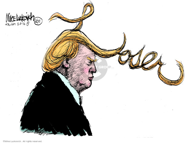 Cartoonist Mike Luckovich  Mike Luckovich's Editorial Cartoons 2016-02-03 election