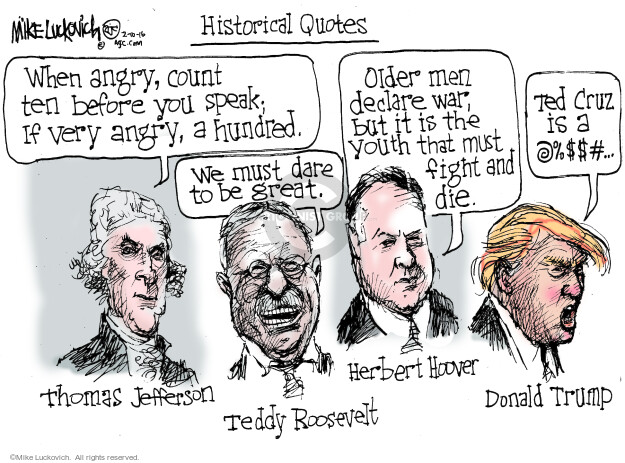 Mike Luckovich  Mike Luckovich's Editorial Cartoons 2016-02-10 Roosevelt