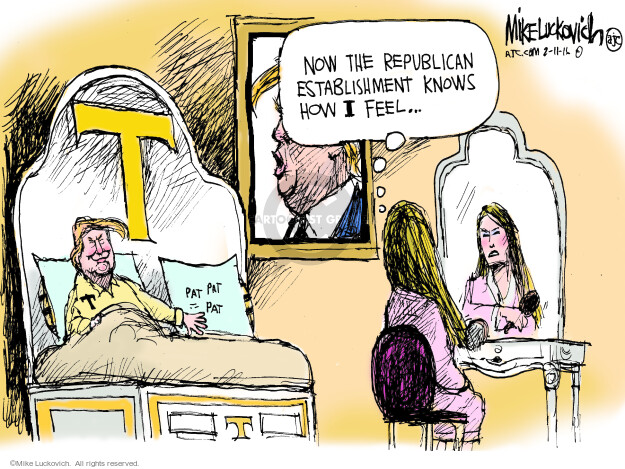 Cartoonist Mike Luckovich  Mike Luckovich's Editorial Cartoons 2016-02-11 election
