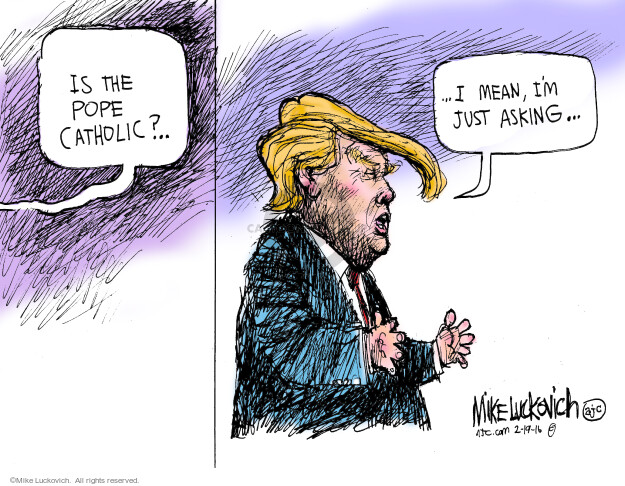 Cartoonist Mike Luckovich  Mike Luckovich's Editorial Cartoons 2016-02-19 election