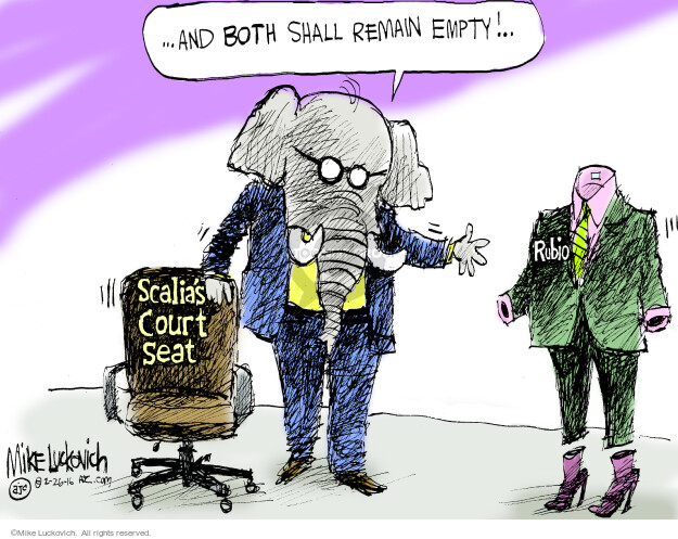 Cartoonist Mike Luckovich  Mike Luckovich's Editorial Cartoons 2016-02-26 election