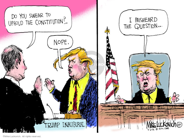 Cartoonist Mike Luckovich  Mike Luckovich's Editorial Cartoons 2016-03-02 Constitution