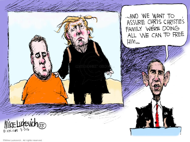 Mike Luckovich  Mike Luckovich's Editorial Cartoons 2016-03-03 2016 Election Chris Christie