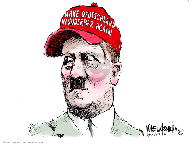 Cartoonist Mike Luckovich  Mike Luckovich's Editorial Cartoons 2016-03-04 Germany